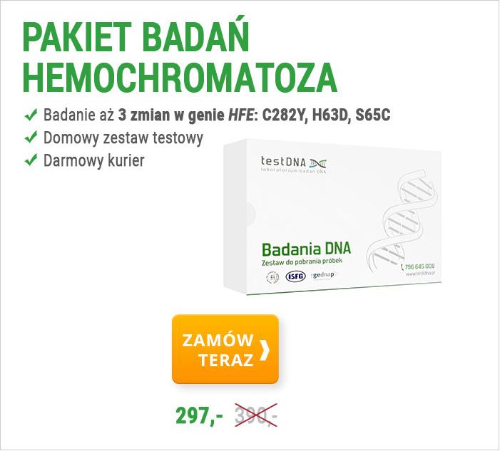 zamów test hemochromatoza