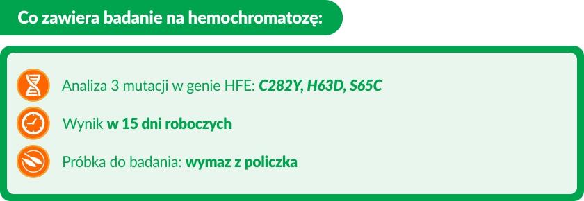 badanie genetyczne hemochromatoza