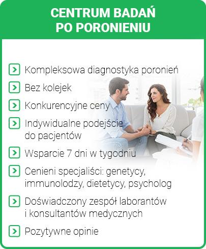 Badania genetyczne po poronieniu Szczecin