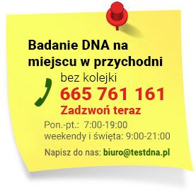 Badanie DNA na miejscu w przychodni