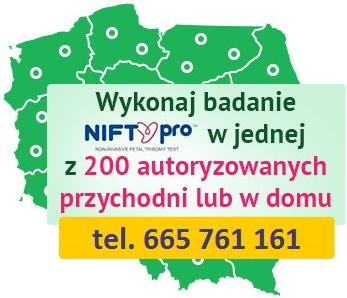 wykonaj badanie nifty w całej Polsce